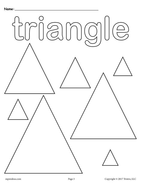 shapes coloring pages circles squares triangles  supplyme