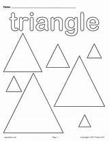 Coloring Shapes Triangles Pages Triangle Shape Worksheets Preschool Printable Kindergarten Worksheet Toddlers Preschoolers Toddler Supplyme Sheets Tracing Circles Fun Activities sketch template
