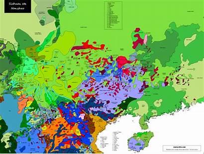 Map Linguistic Nanzhao Sichuan Languages Maps Linguistique