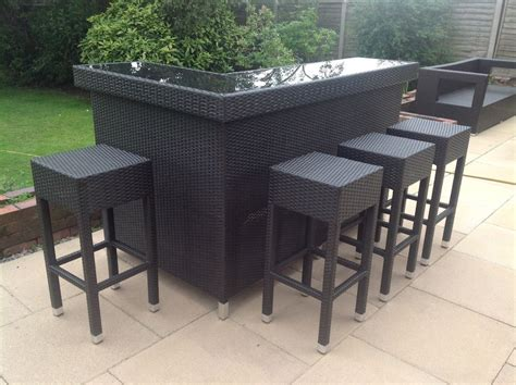 Outdoor Bar Furniture by Stylish Rattan Outdoor Bar Counter Bar Counter And Gardens
