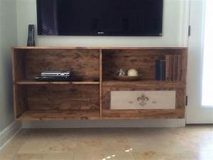 homemade floating tv stand furniture pinterest With homemade tv furniture