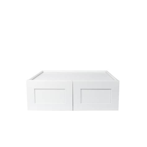 white shaker wall cabinets plywell ready to assemble 33x18x12 in shaker high double