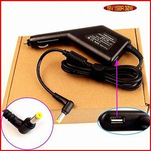 Laptop Dc Power Car Adapter Charger 19v 1 58a   Usb Port