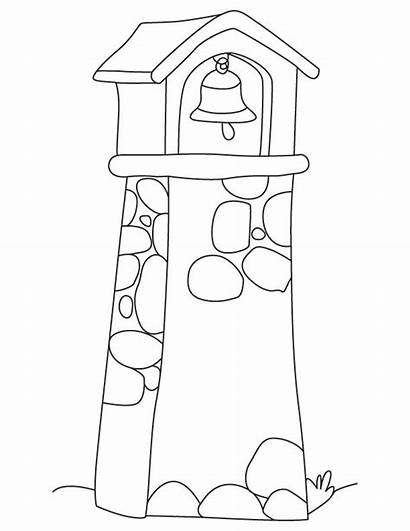 Tower Bell Coloring Pages