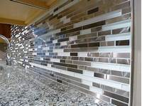 how to install glass mosaic tile Install Mosaic Tile Backsplash fit together with a ...