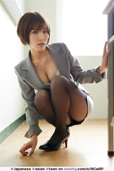 Japanese Asian Teen Babe Nn Officegirl Secretary Pantyhose Japantyhose Nylons