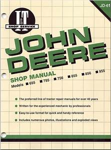 John Deere Tractor 655  755  756  855  856  955 Repair Manual