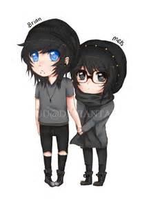 Cute Emo Chibi Couples Drawings