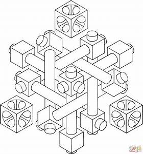 Optical Illusion 27 Coloring Page Free Printable