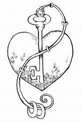 Coloring Key Pages Heart Skeleton Hearts Lock Drawings Stamps Cupcake Digital Stamp Keys Things Imaginext Printable Wonderstrange Five Template Getcolorings sketch template