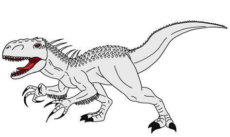 Kleurplaat Indominus Rex by Kleurplaat Indoraptor Dibujo De Indominus Rex Para