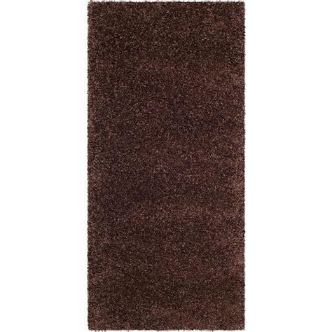 shag throw rugs shop safavieh milan shag brown rectangular indoor throw