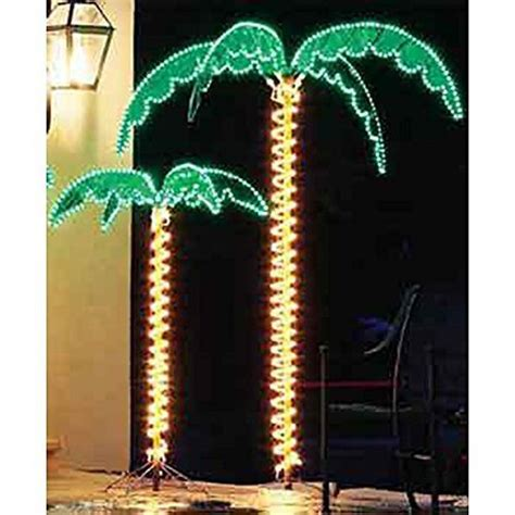 tropical lighted christmas tree eez rv products 7 foot high bright led lighted tropical palm tree 5 times brighter than