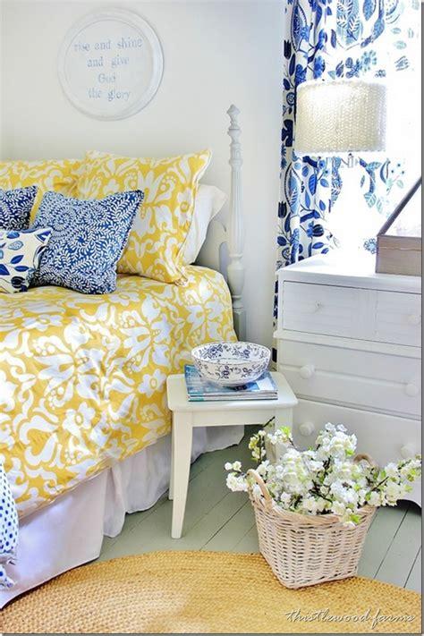 blue  yellow farmhouse bedroom thistlewood farm