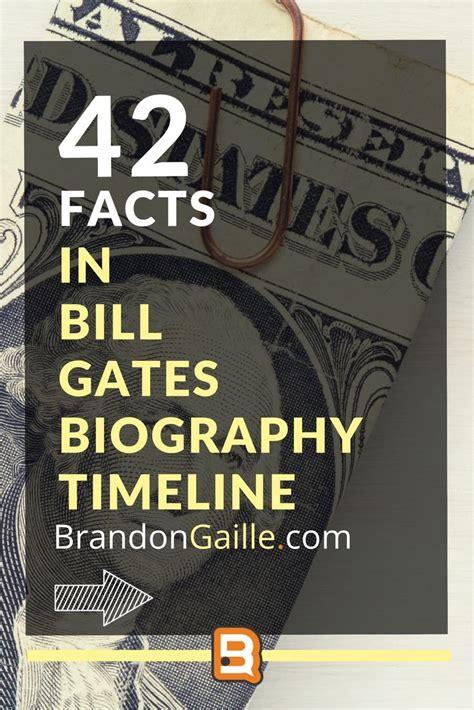 Bill Gates Biography Timeline   Bill gates biography, Bill ...