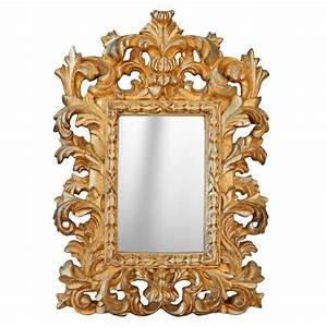 Miroir Baroque Argenté : miroir baroque dor de style v nitien poser ou suspendre ~ Teatrodelosmanantiales.com Idées de Décoration