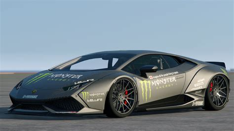 lamborghini huracan lp  libertywalk monster livery
