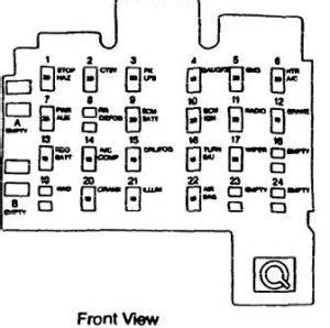 Isuzu Hombre Fuse Box Diagram Auto Genius