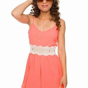 Cosima Romper Neon Coral from Shop Priceless