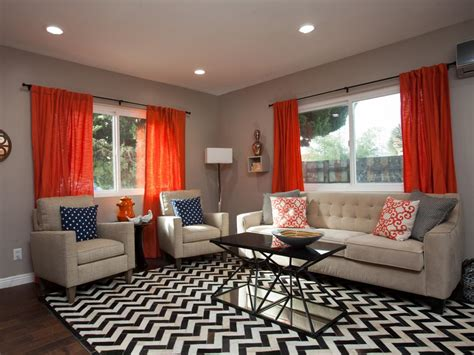 Curtains With Orange Accents by Photos Hgtv