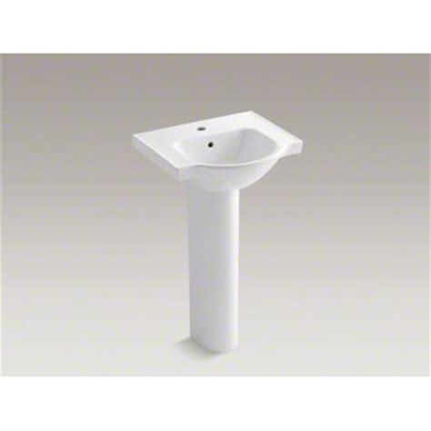 kohler small bathroom sinks kohler 21 quot pedestal bathroom sink with single faucet hole
