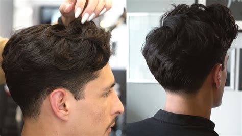scissors  comb haircut tapered textured youtube