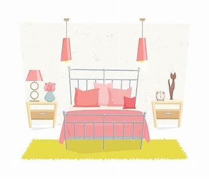 Bedroom Teenage Wall Vector Interior Clip Illustrations