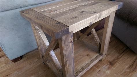 ana white modified rustic   table diy projects