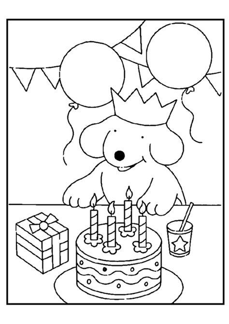Kleurplaat Hond Verjaardag by Kleurplaat Verjaardag 14 Kopen Zippytoys
