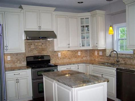 White Kitchen Cabinets With White Granite Countertops by Kitchen Kitchen Backsplash Ideas Black Granite