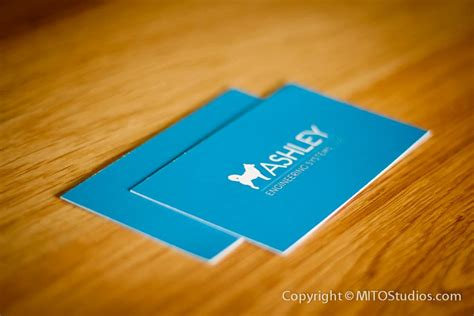 business card design ashely engineering systems mito