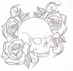 Skull and Roses Tattoo Sketches