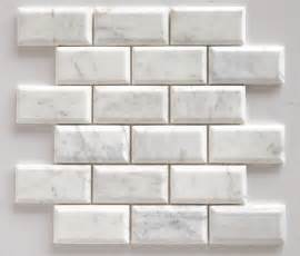 2 X 8 Beveled Subway Tile by Bianco Venatino Marble 2x4 Beveled Polished Subway