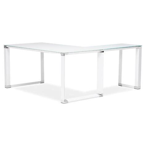 bureau verre angle bureau d 39 angle design quot hovik quot verre blanc
