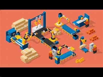 Factory Mechanism Animation C4d Machines Dribbble Icon