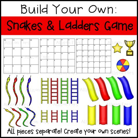 Build Your Own Snakes And Ladders Board Game  Allison Fors