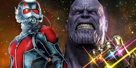 ant man takes  thanos  avengers infinity war fan poster