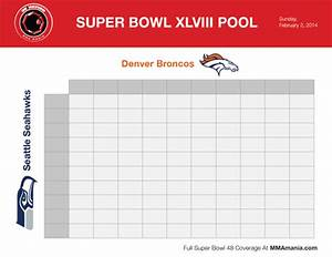 super bowl squares sheet 2014 download printable broncos With super bowl betting pool template