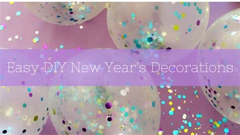 Easy DIY New Year's Decorations
