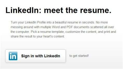 Resume Creator From Linkedin by How To Convert Your Linkedin Profile Into A Looking