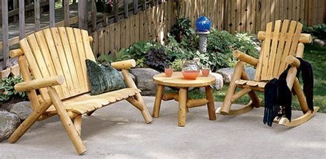 wood patio furniture rustic patio furniture country