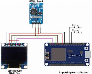 Real Time Clock Using Nodemcu  Ds3231 And Ssd1306 Oled