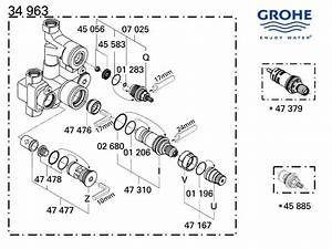 Shower Spares For Grohe Mixer Valve