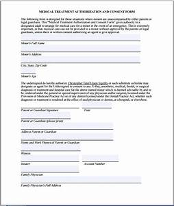 sample medical consent form printable medical forms With medication consent form template