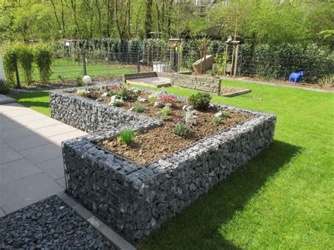Gabionen Als Raumteiler Im Garten Hochbeete, Mauern Und