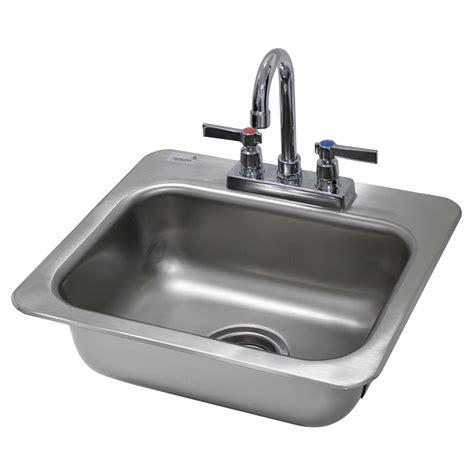 advance tabco drop in sink advance tabco di 1 35 1 compartment drop in sink 14 quot x