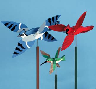 wild bird whirligigs wood project plan fun colorful