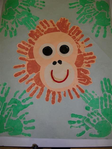 hands  orangutans rainforest crafts zoo crafts