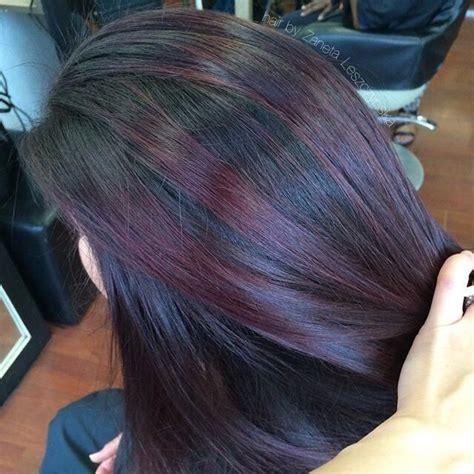 plum highlights ideas  pinterest plum hair