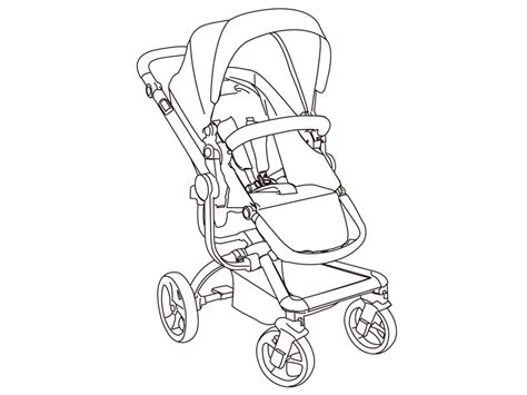 Stroller And Car Seat Coloring Pages